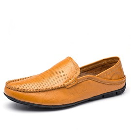 Breathable PU Slip-On Driving Shoes