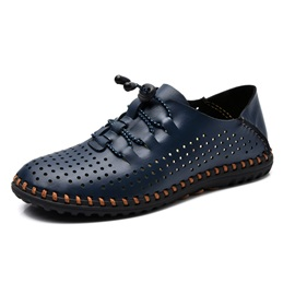 PU Hollow Thread Men's Casual Shoes