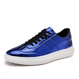 PU Thread Lace-Up Skater Shoes