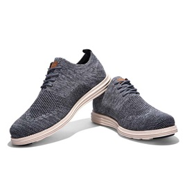 Breathable Round Toe Wingtip Lace-Up Casual Shoes