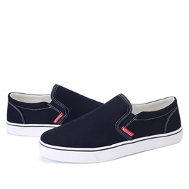 Thread Round Toe Slip-On Canvas Shoes