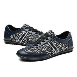 PU Patchwork Men's Casual Shoes
