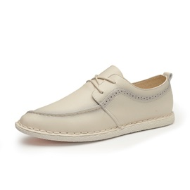 British PU Lace-Up Casual Shoes