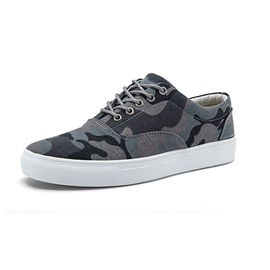 Camouflage Color Lace-Up Skater Shoes
