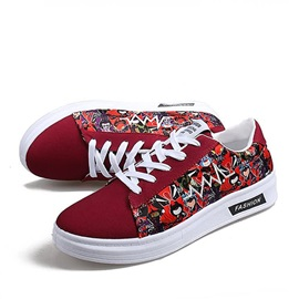 Printed Round Toe Canvas Shoes