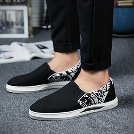 Breathable Printed Slip-On Canvas Shoes