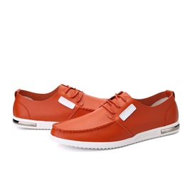 PU Thread Tie-Up Casual Shoes