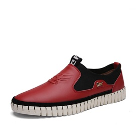 Contrast Color Wedge Sole Casual Shoes