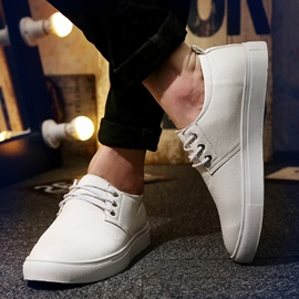 PU Plain Toe Lace-Up Loafers