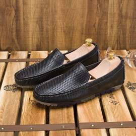 Solid Color Hollow Slip-On Driving Shoes