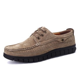 British Style Suede Thread Lace-Up Casual Shoes