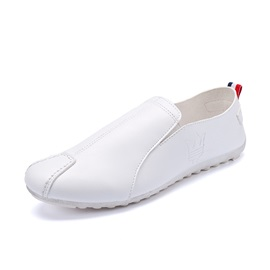 PU Thread Round Toe Loafers