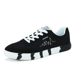 Colored Sole Lace-Up Skater Shoes