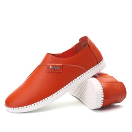 PU Round Toe Thread Casual Shoes for Men