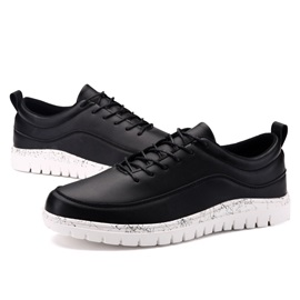 British Contrast Color PU Casual Shoes