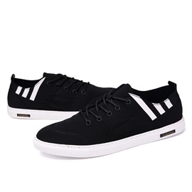 Spandex Round Toe Lace-Up Skater Shoes