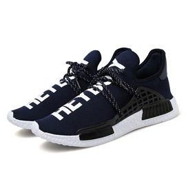 Letters Printed Lace-Up Running Shoes for Men