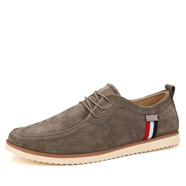 Suede Tie-Up Men's Casual Shoes