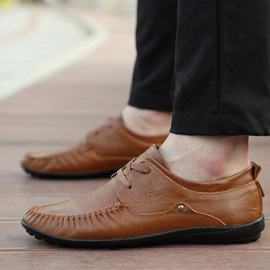 Thread Lace-Up Casual Shoes for Men