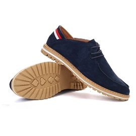 Suede Low-Cut Lace-Up Men's Casual Shoes