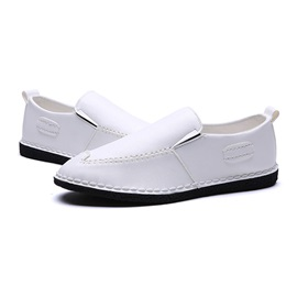 Fashion PU Thread Slip-On Loafers for Men