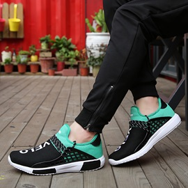 Letters Printed Lace-Up Sneakers