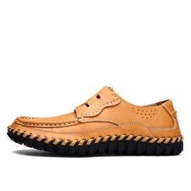 Thread PU Lace-Up Casual Shoes for Men
