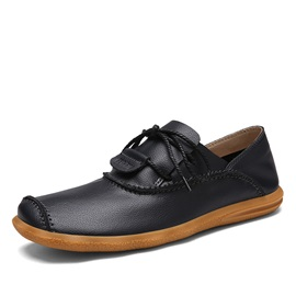 PU Threads Lace-Up Men's Casual Shoes