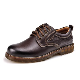 British Embossed Letters Men's Work Shoes