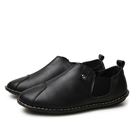 British PU Thread Slip-On Casual Shoes