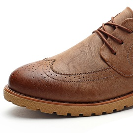Retro Wingtips Lace-Up Casual Shoes