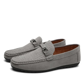 Suede Crochet Slip-On Driving Shoes