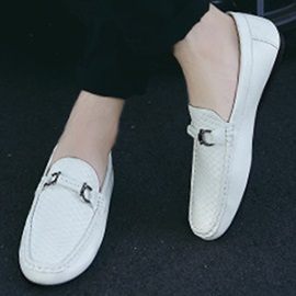 Embossed PU Slip-On Casual Shoes for Men