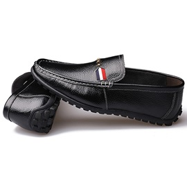 Faux Leather Slip-On Loafers