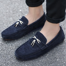 Cosy Suede Wingtip Slip-On Loafers