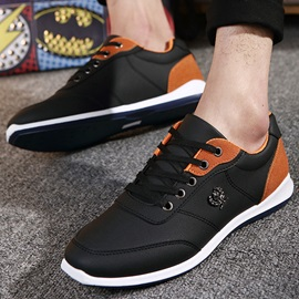 Contrast Color Lace-Up Casual Shoes for Men