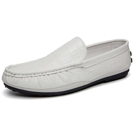 Embossed PU Men's Casual Shoes