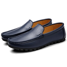 British PU Thread Men's Loafers