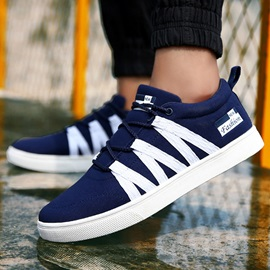 Fashion Round Toe Lace-Up Casual Shoes