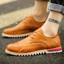 PU Low-Cut Upper Lace-Up Casual Shoes
