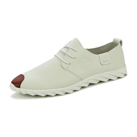PU Lace-Up Square Toe Flat Loafers