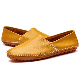 PU Slip-On Plain Round Toe Men's Casual Shoes