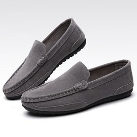Nubuck Leather Plain Sip-On Casual Shoes