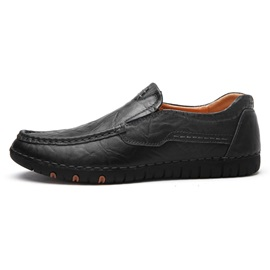 PU Plain Slip-On Men's Shoes