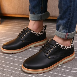 PU Solid Color Casual Shoes for Men
