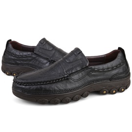 PU Round Toe Sip-On Men's Oxfords