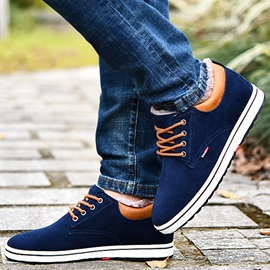 Nubuck Leather Plain Lace-Up Men's Casual Shoes