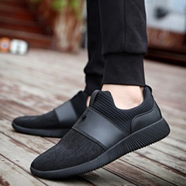 Simple Cloth Patchwork Slip-On Men's Casual Shoes