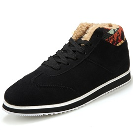 Nubuck Leather Plain Lace-Up Men's Nice Winter Shoes