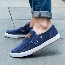 Cheapest Denim Plain Round Toe Men's Casual Shoes